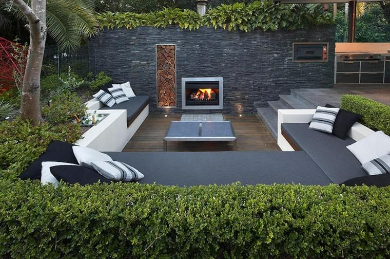 Revestimiento de paredes exteriores 50 ideas - Piedras de colores para jardin ...