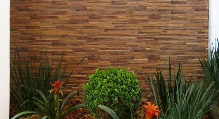 muro jardin revestido relieve