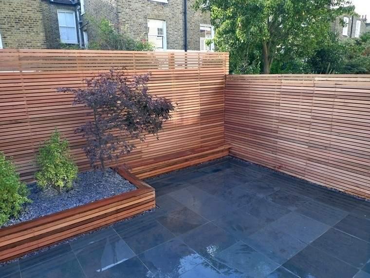 Dise o de jardines modernos 100 ideas impactantes - Vallas para muros ...