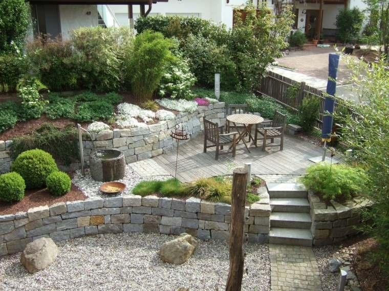 Muros en el jard n 75 ideas que te encantar n for Budas grandes para jardin