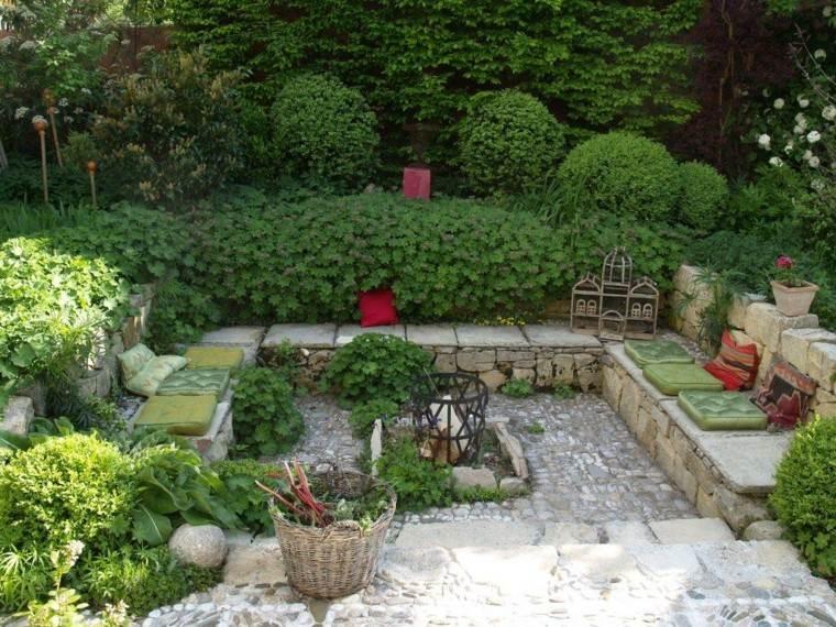muros jardin usados bancos ideas originales bonitas