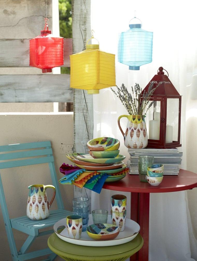 objetos decorativos accesorios jardin colores