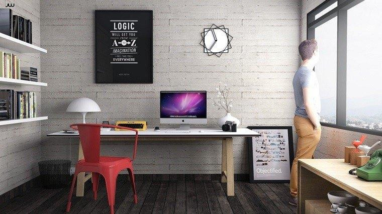 oficina moderna silla roja tio