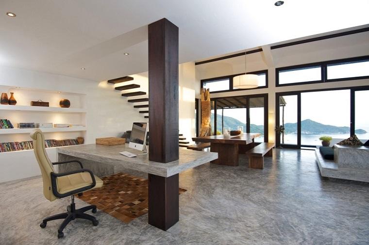 oficina trabajo diseño estilo moderno