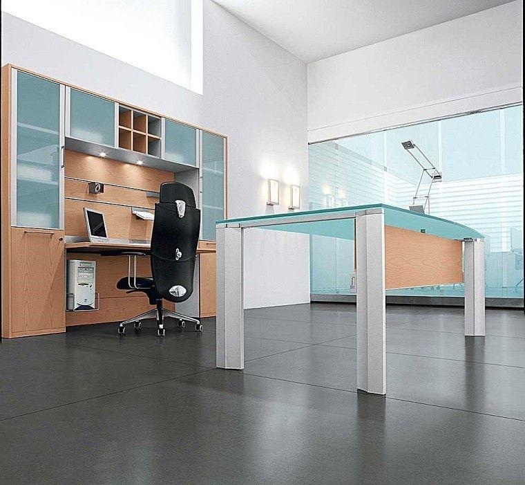 oficinas elementos cristal diseño escandinavo
