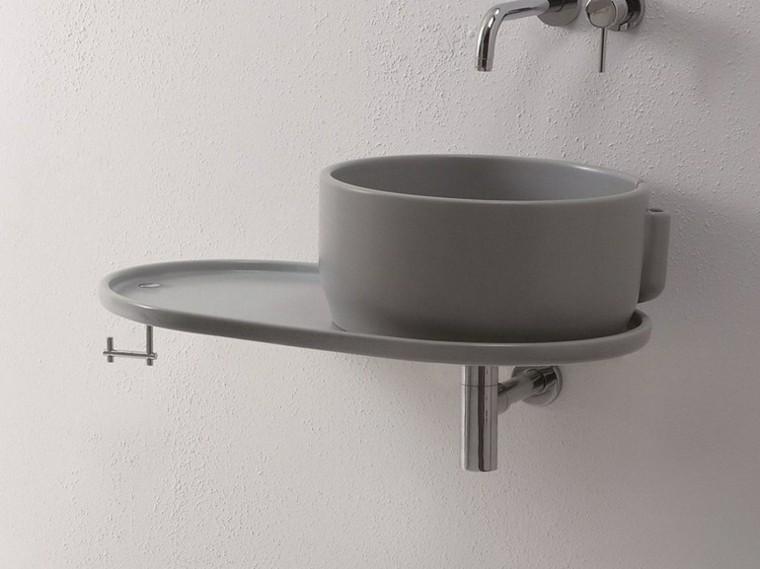 olympia lavabo moderno gris redondo