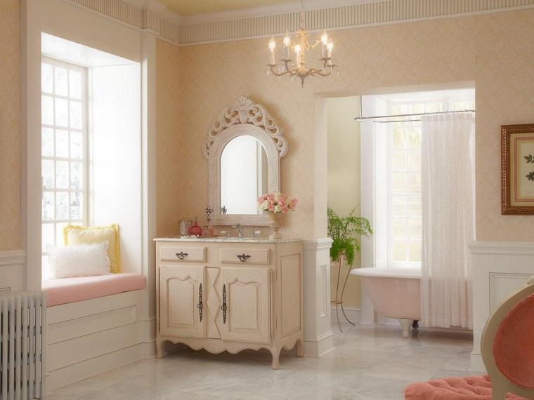 original lavabo bano estilo victoriano espejo ideas