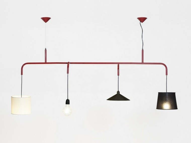 L mparas de techo ideas modernas para el interior - Tipos de lamparas de techo ...
