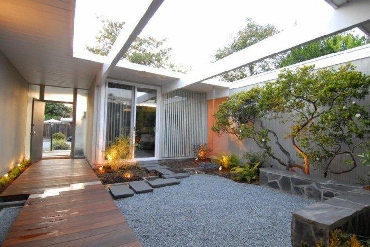 paisajes bonitos jardin guijarros estilo japones ideas