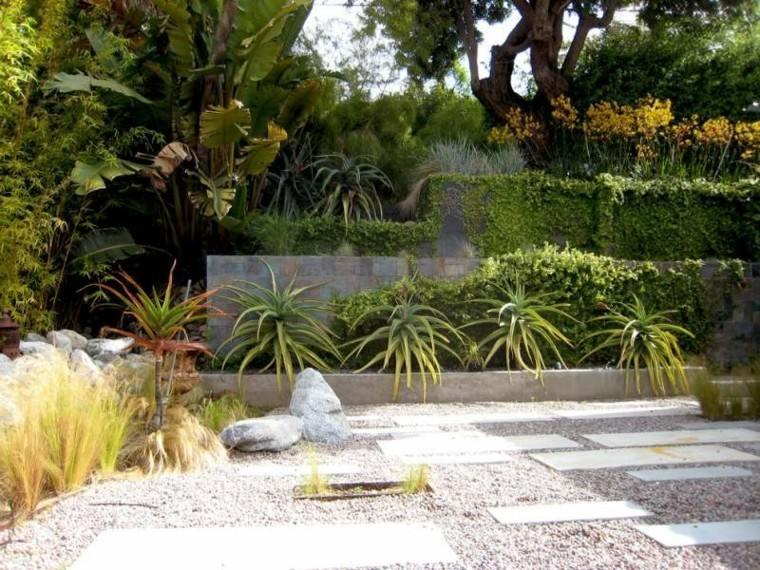 paisajes bonitos jardin guijarros estilo minimalista ideas