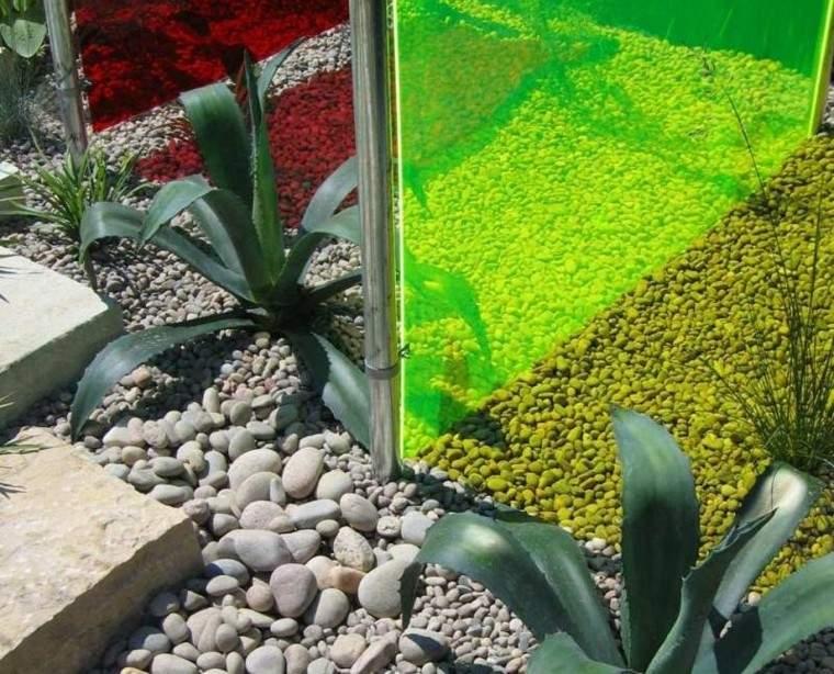 paisajes bonitos jardin guijarros ideas colores valla ideas
