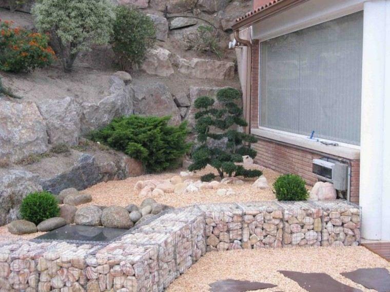 paisajes bonitos jardin guijarros muralla piedras grandes ideas