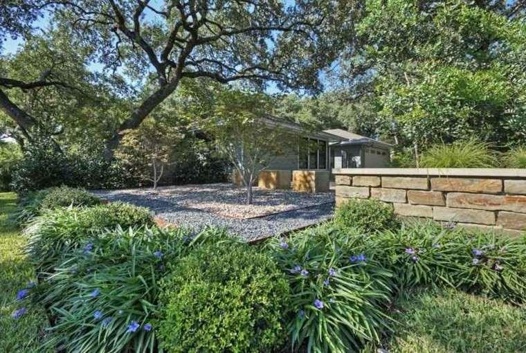 paisajes bonitos jardin guijarros plantas casa ideas