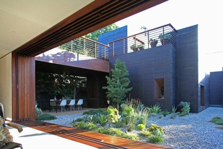 paisajes bonitos jardin guijarros plantas comedor ideas