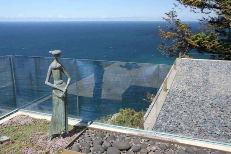 paisajes bonitos terraza guijarros vistas maravillosas ideas