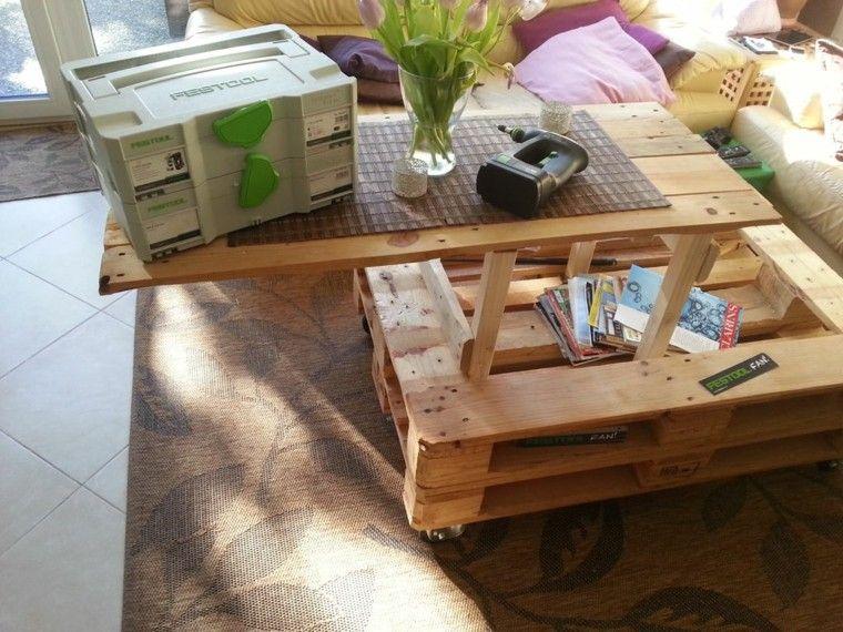 Muebles hechos con palets 100 ideas para el hogar - Mesa centro palet ...