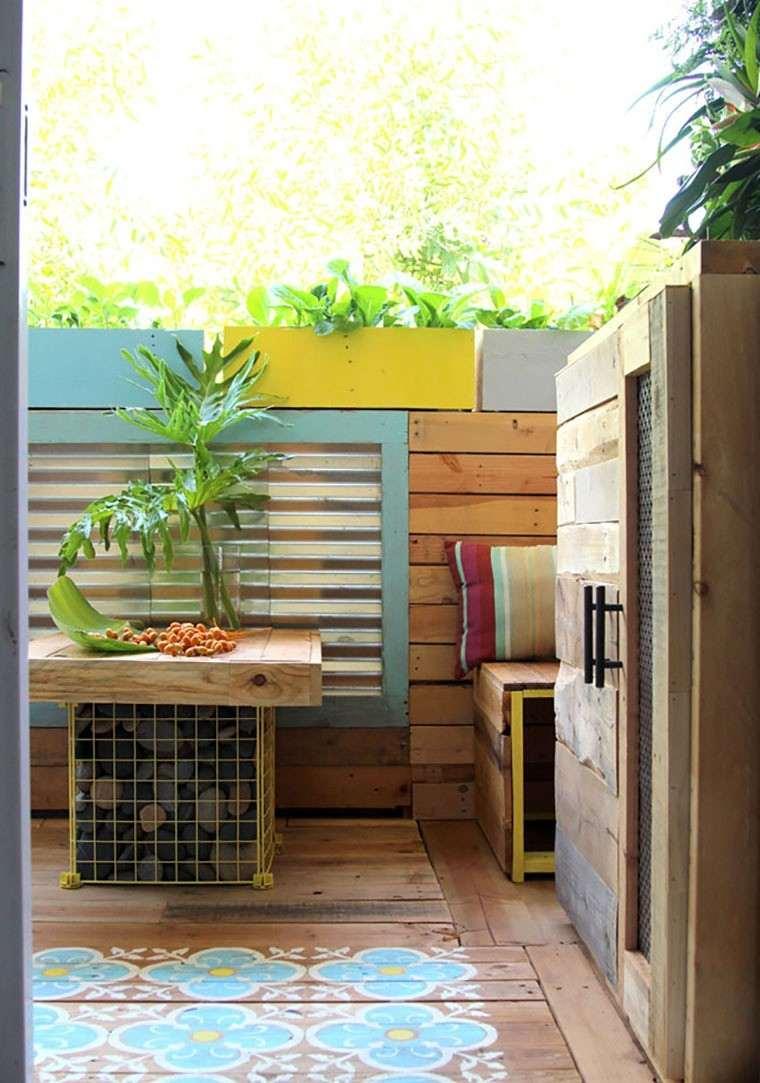 palets balcon reformado precioso idea original bonita