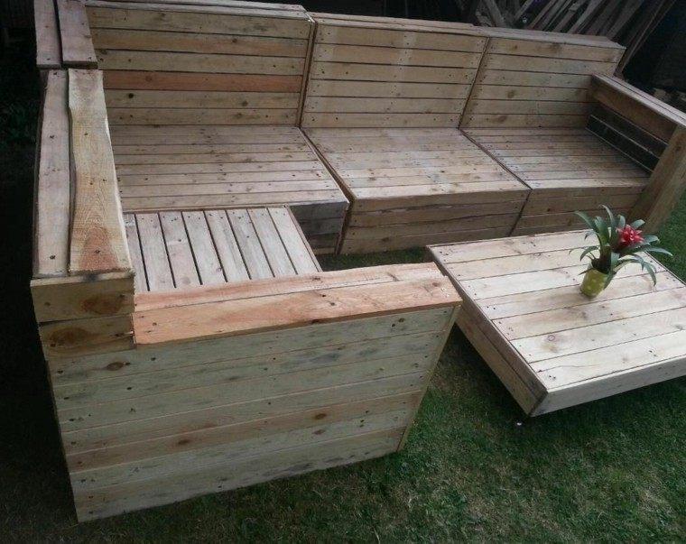 Muebles hechos con palets 100 ideas para el hogar for Muebles jardin madera palet