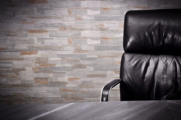 panel oficina cubierta cuero sillon