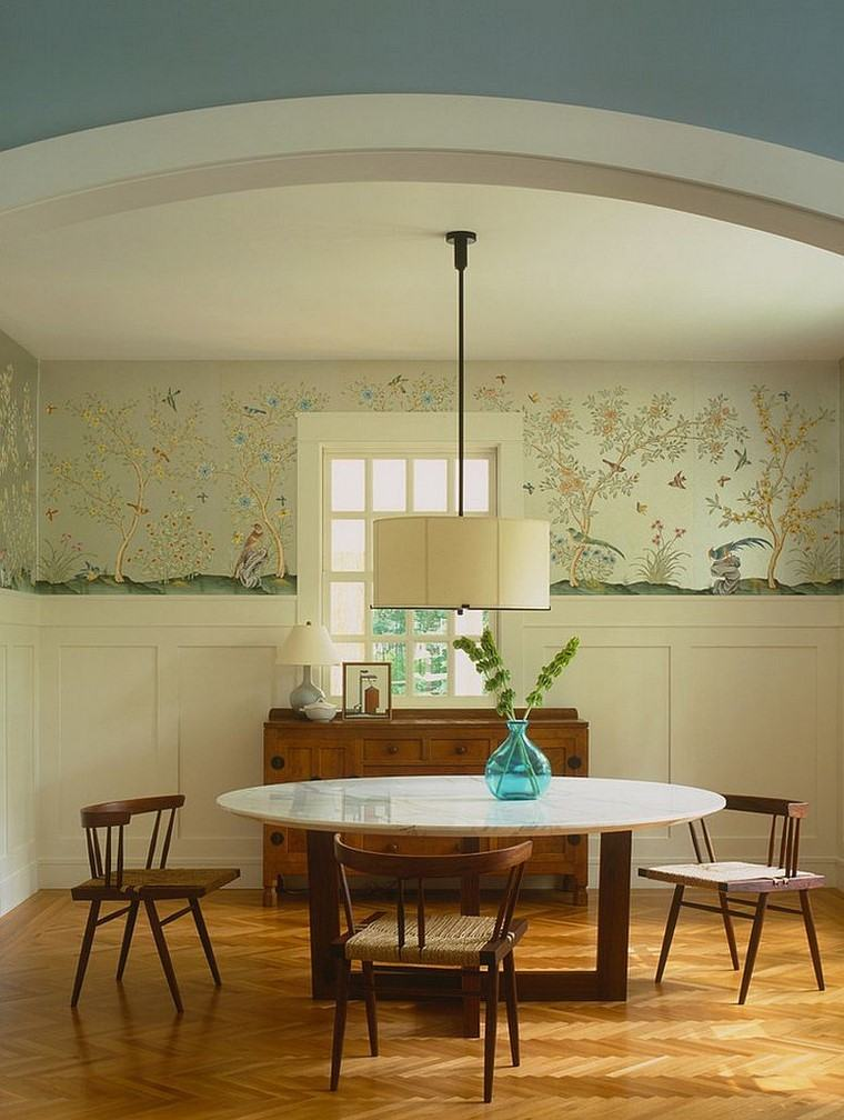 papel para paredes estilo clase comedor ideas