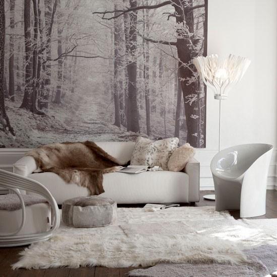 papel pared estampa bosque alfombra pelos ideas