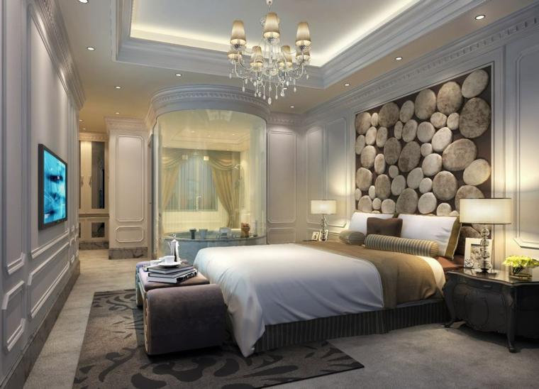 Revestimiento de paredes de dormitorios 50 ideas for Decoracion de murallas interiores