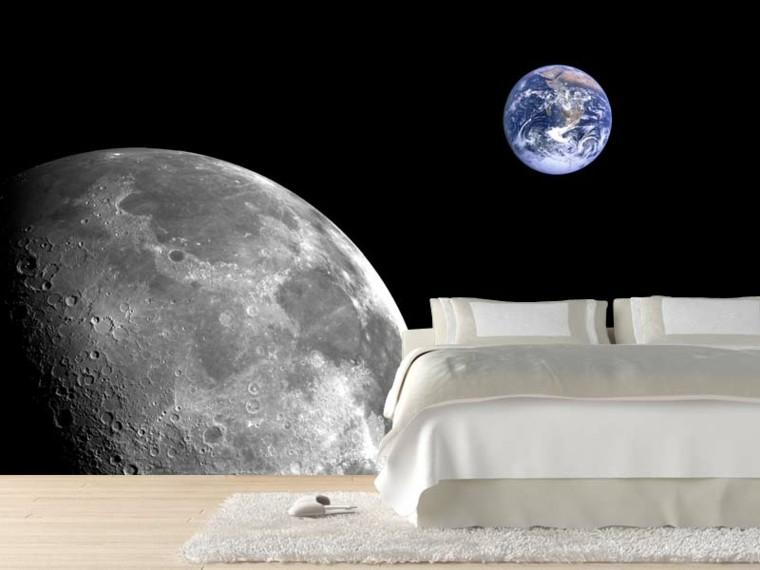 de paredes para dormitorios papel pared pintado tierra luna