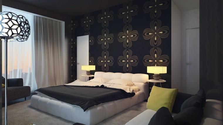 papel pared treboles negros oro