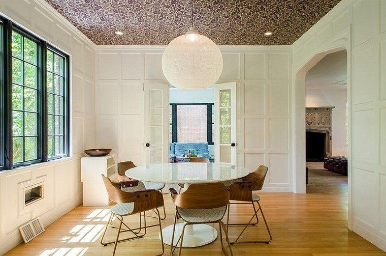 papel paredes- diseno moderno enfoque comedor ideas
