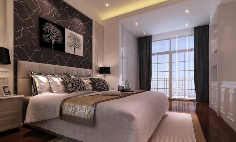 Revestimiento de paredes de dormitorios 50 ideas - Cabeceros papel pintado ...