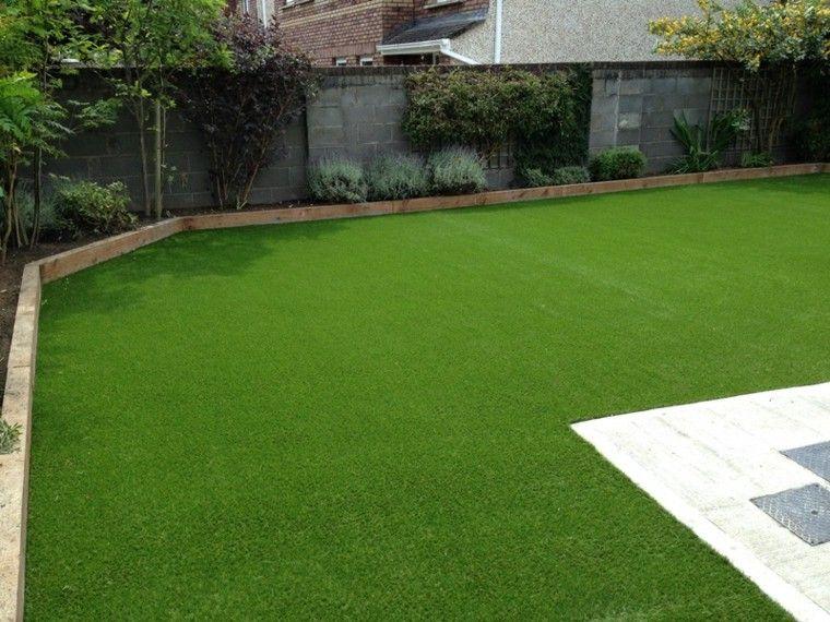 parcela jardin hierba cortada verde