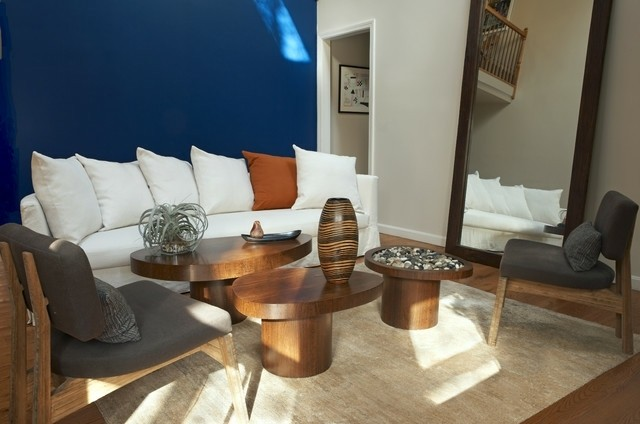 Sala De Estar En Azul ~ Colores vivos para la decoración de salas de estar