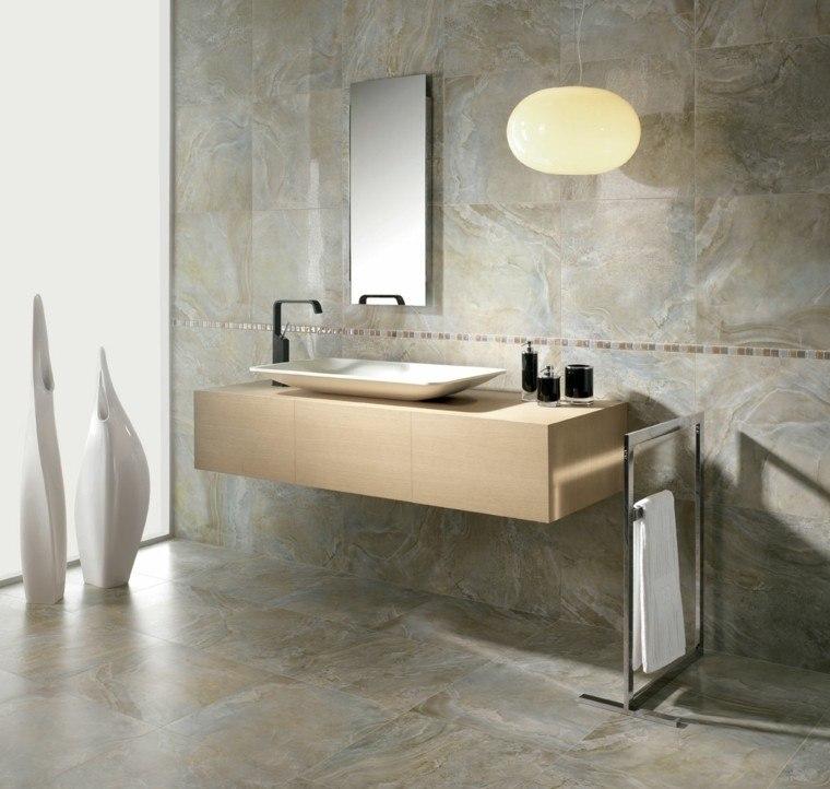pared azulejos diseño baño moderno
