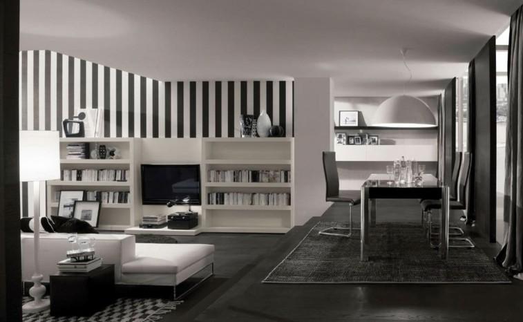 Decorar salas de estar en blanco y negro, ¿se atreve?