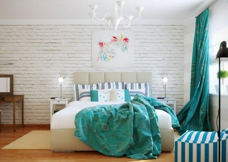 pared blanca ladrillo visto