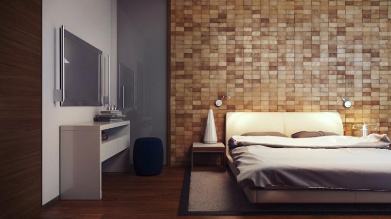 Revestimiento de paredes de dormitorios 50 ideas for Dormitorio principal m6 deco