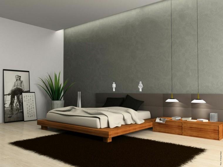 pared color gris estilo moderno