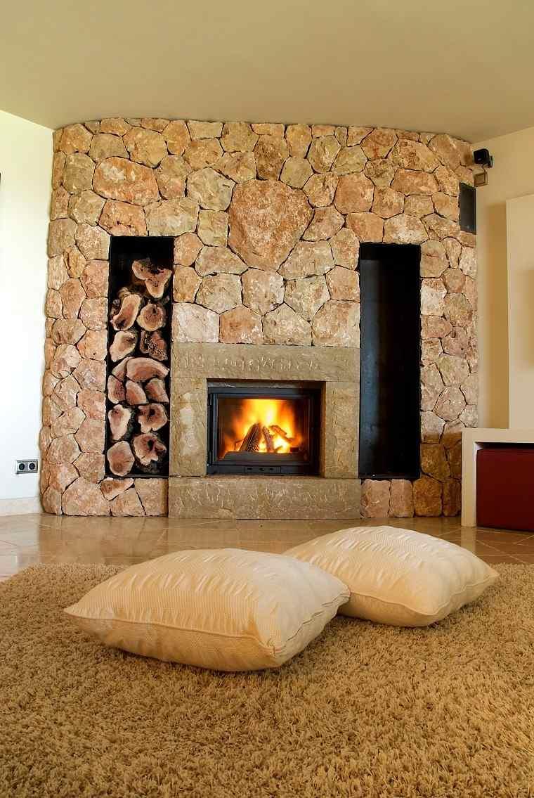 Chimenea en el sal n 25 ideas originales - Fotos de chimeneas decorativas ...