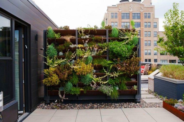pared vegetal vertical casa muro