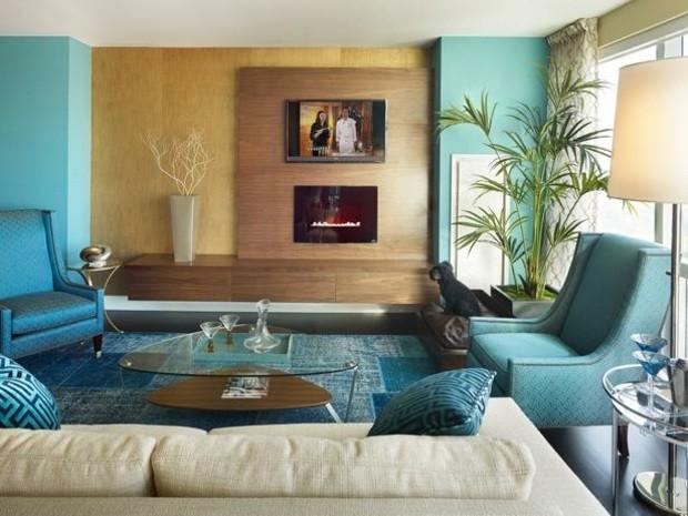 Colores vivos para la decoraci n de salas de estar for Wohnzimmer 1960