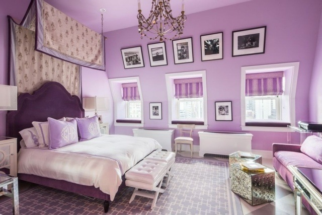 paleta de colores violeta cuarto juvenil