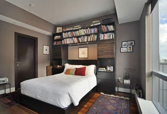 paleta de colores grises cuarto pequeño