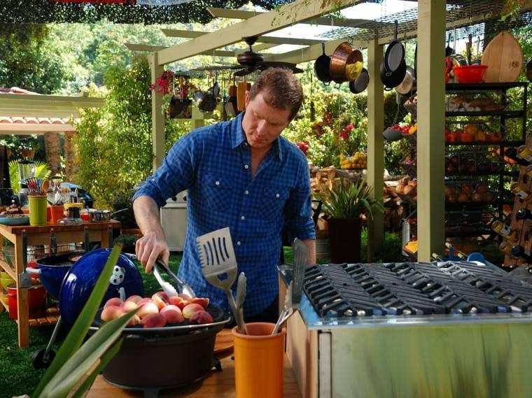parrilla fiesta patio frutas cocina exterior