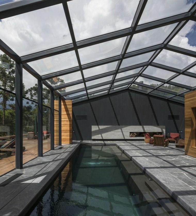 patio cubierto piscina estilo moderno