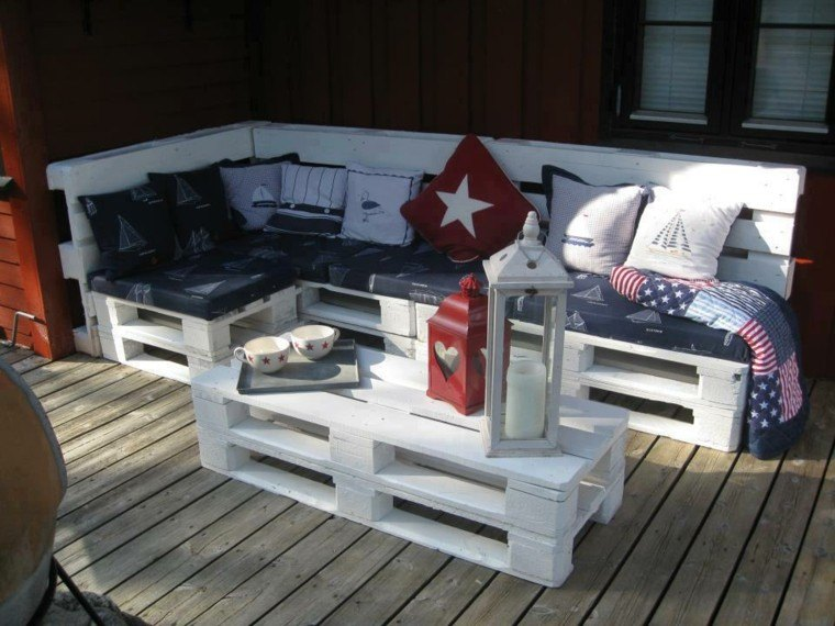 patio faron cojines marino estilo diseño