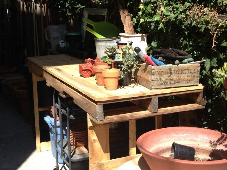 patio macetas mueble jardin mesa