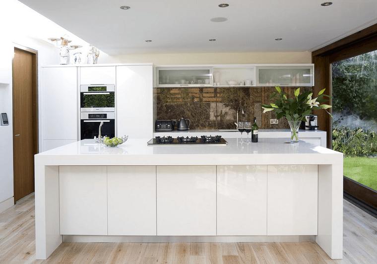 patio plantas moderno cocina mueble