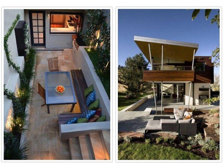 patio terraza moderno diseño cojines