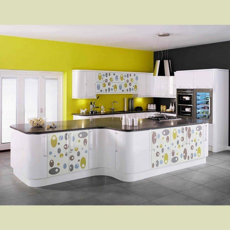 Modular Kitchen Green Color: Amarillo Y Gris, Juntos O Separados