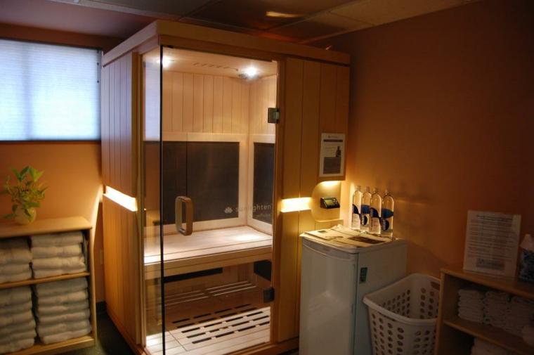 pequeña cabina saunas madera